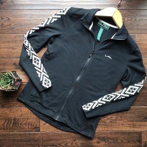 Ralph Lauren active wear zip sweatshirt black